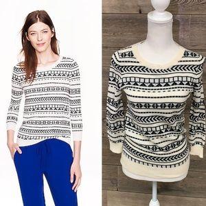 J. CREW Merino wool Tippi sweater geo stripe XXS
